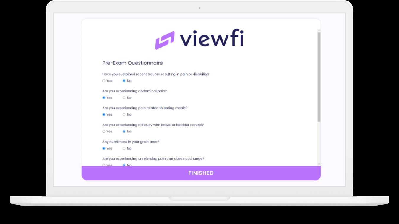 virtual care viewfi questions